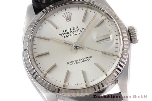 Used luxury watch Rolex Datejust steel / white gold automatic Kal. 3035 Ref. 16014  | 153000 02