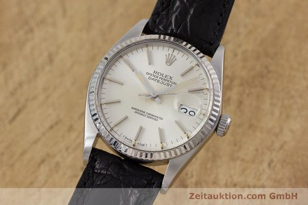 Used luxury watch Rolex Datejust steel / white gold automatic Kal. 3035 Ref. 16014  | 153000 04