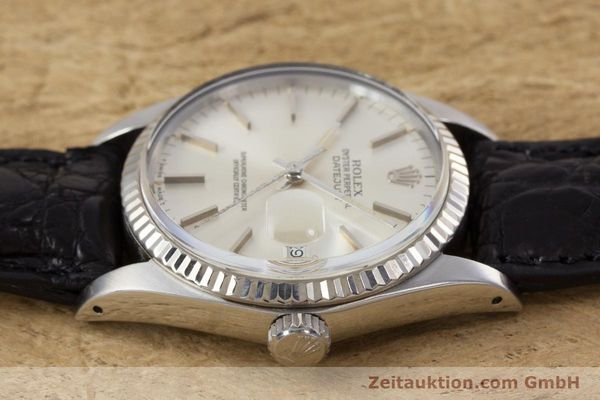 Used luxury watch Rolex Datejust steel / white gold automatic Kal. 3035 Ref. 16014  | 153000 05
