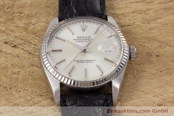 Used luxury watch Rolex Datejust steel / white gold automatic Kal. 3035 Ref. 16014  | 153000 15