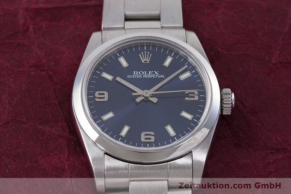 Used luxury watch Rolex Oyster Perpetual steel automatic Kal. 2230 Ref. 77080  | 153005 15