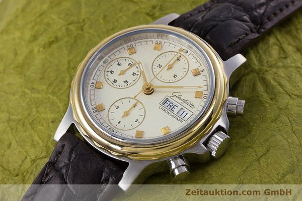 Used luxury watch Glashütte * chronograph steel / gold automatic Kal. ETA 7750  | 153008 01