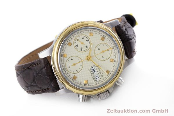 Used luxury watch Glashütte * chronograph steel / gold automatic Kal. ETA 7750  | 153008 03