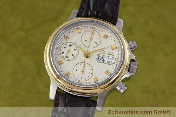Used luxury watch Glashütte * chronograph steel / gold automatic Kal. ETA 7750  | 153008 04