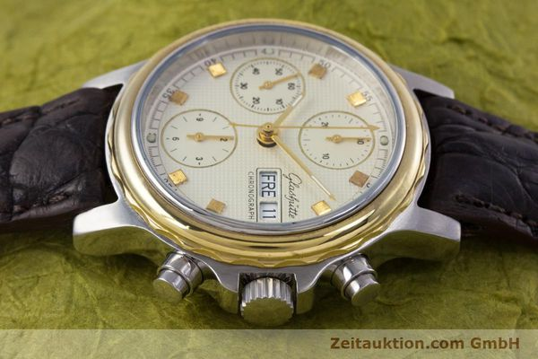 Used luxury watch Glashütte * chronograph steel / gold automatic Kal. ETA 7750  | 153008 05