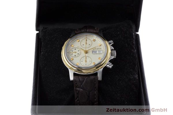 Used luxury watch Glashütte * chronograph steel / gold automatic Kal. ETA 7750  | 153008 07