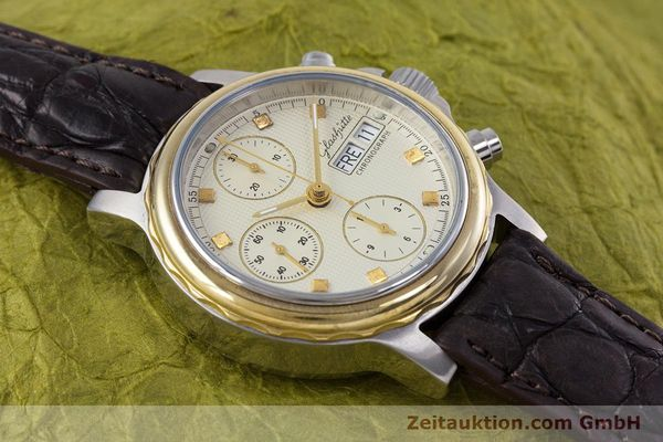 Used luxury watch Glashütte * chronograph steel / gold automatic Kal. ETA 7750  | 153008 12