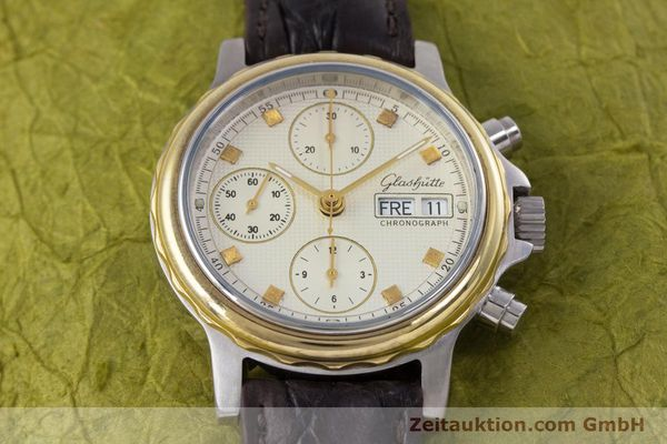 Used luxury watch Glashütte * chronograph steel / gold automatic Kal. ETA 7750  | 153008 13
