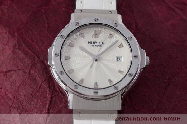 Used luxury watch Hublot Classic steel quartz Kal. ETA 956.112 Ref. 1395.1  | 153013 15