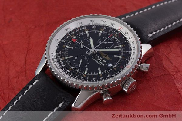 Used luxury watch Breitling Navitimer World chronograph steel automatic Kal. B24 ETA 7754 Ref. A24322  | 153017 01