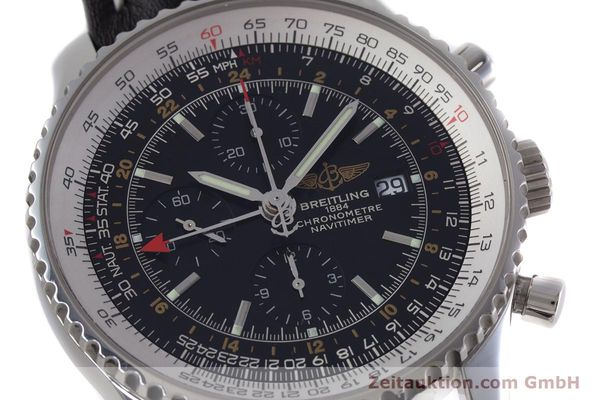 Used luxury watch Breitling Navitimer World chronograph steel automatic Kal. B24 ETA 7754 Ref. A24322  | 153017 02