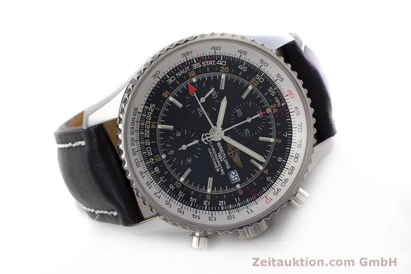 Used luxury watch Breitling Navitimer World chronograph steel automatic Kal. B24 ETA 7754 Ref. A24322  | 153017 03