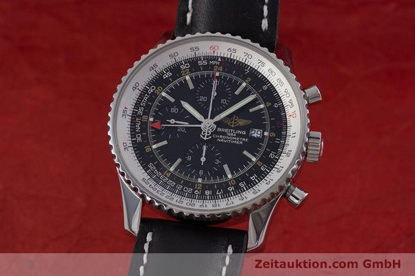 Used luxury watch Breitling Navitimer World chronograph steel automatic Kal. B24 ETA 7754 Ref. A24322  | 153017 04