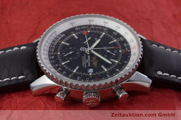 Used luxury watch Breitling Navitimer World chronograph steel automatic Kal. B24 ETA 7754 Ref. A24322  | 153017 05