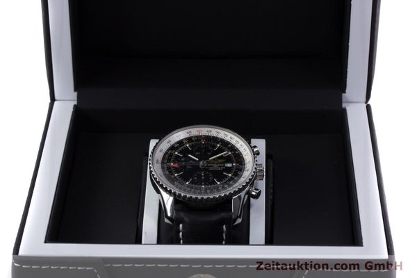 Used luxury watch Breitling Navitimer World chronograph steel automatic Kal. B24 ETA 7754 Ref. A24322  | 153017 07