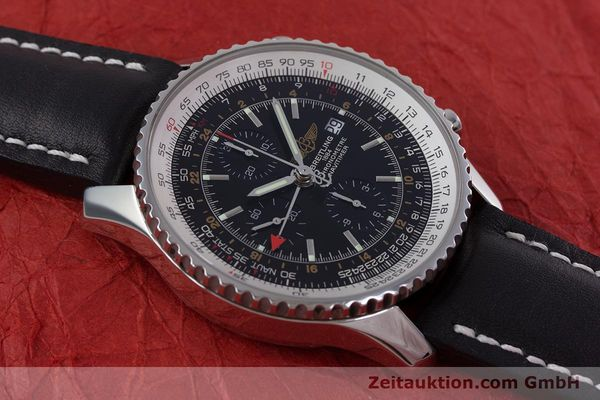 Used luxury watch Breitling Navitimer World chronograph steel automatic Kal. B24 ETA 7754 Ref. A24322  | 153017 13
