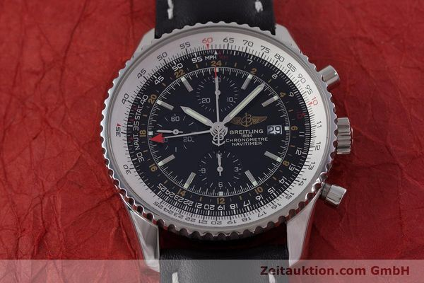Used luxury watch Breitling Navitimer World chronograph steel automatic Kal. B24 ETA 7754 Ref. A24322  | 153017 14