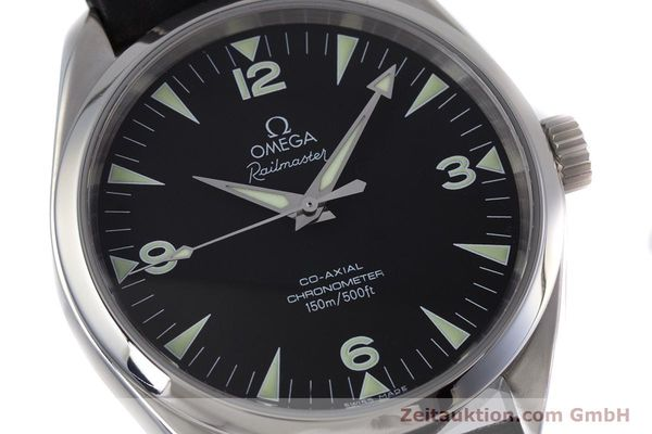 Used luxury watch Omega Railmaster steel automatic Kal. 2403  | 153021 02