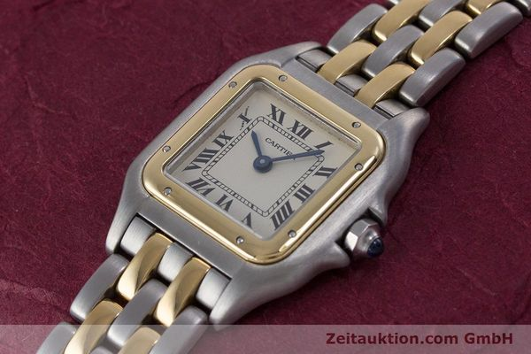 Used luxury watch Cartier Panthere steel / gold quartz Kal. 157  | 153053 01