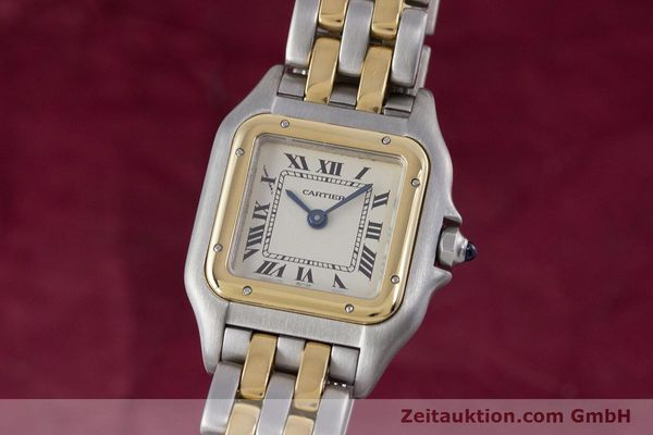 Used luxury watch Cartier Panthere steel / gold quartz Kal. 157  | 153053 04