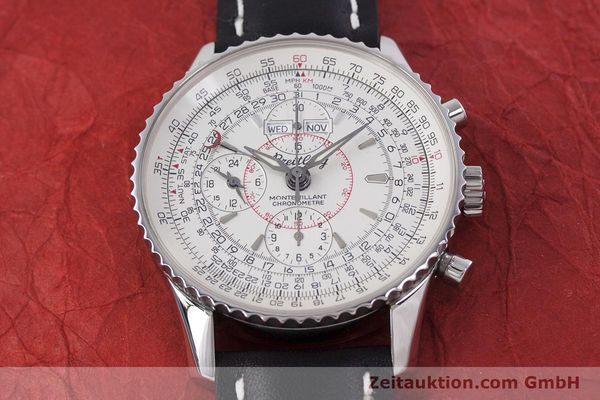 Used luxury watch Breitling Montbrillant chronograph steel automatic Kal. B21 ETA 7751 Ref. A21330  | 153057 14