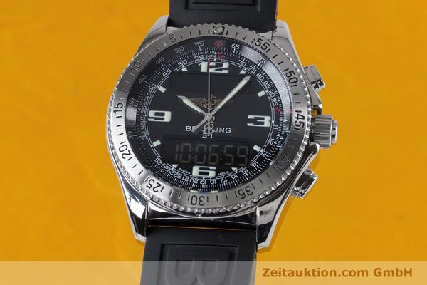 Used luxury watch Breitling B1 chronograph steel quartz Kal. B68 ETA E20.331 Ref. A68062  | 153068 04