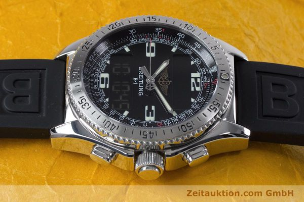 Used luxury watch Breitling B1 chronograph steel quartz Kal. B68 ETA E20.331 Ref. A68062  | 153068 05