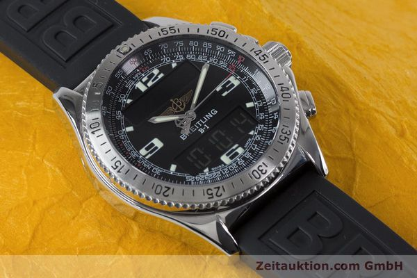 Used luxury watch Breitling B1 chronograph steel quartz Kal. B68 ETA E20.331 Ref. A68062  | 153068 14