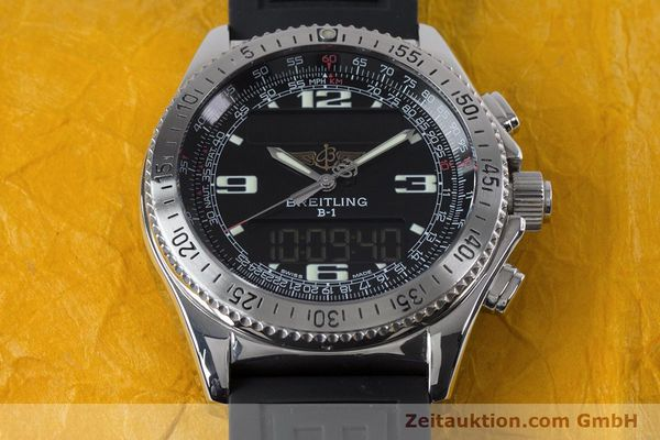 Used luxury watch Breitling B1 chronograph steel quartz Kal. B68 ETA E20.331 Ref. A68062  | 153068 15