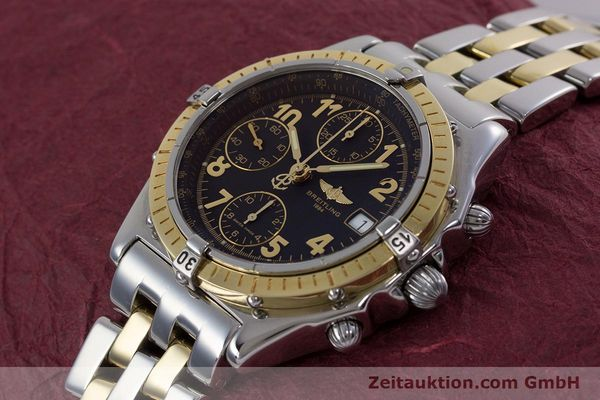 Used luxury watch Breitling Chronomat chronograph steel / gold automatic Kal. B13 ETA 7750 Ref. D13050.1  | 153074 01