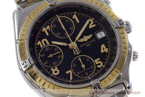 Used luxury watch Breitling Chronomat chronograph steel / gold automatic Kal. B13 ETA 7750 Ref. D13050.1  | 153074 02