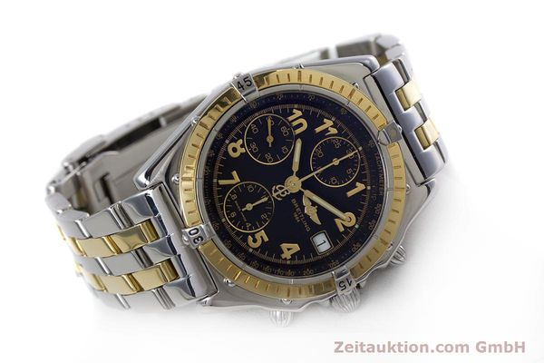 Used luxury watch Breitling Chronomat chronograph steel / gold automatic Kal. B13 ETA 7750 Ref. D13050.1  | 153074 03