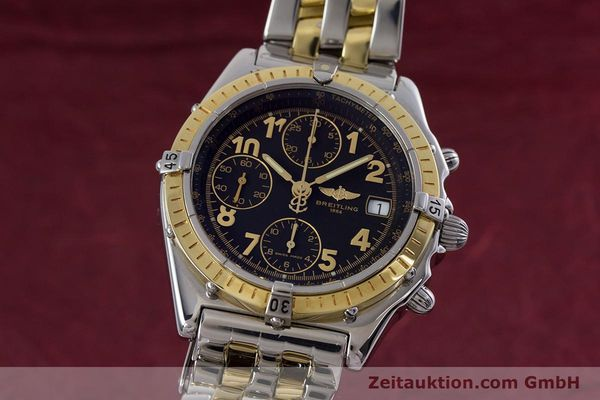 Used luxury watch Breitling Chronomat chronograph steel / gold automatic Kal. B13 ETA 7750 Ref. D13050.1  | 153074 04