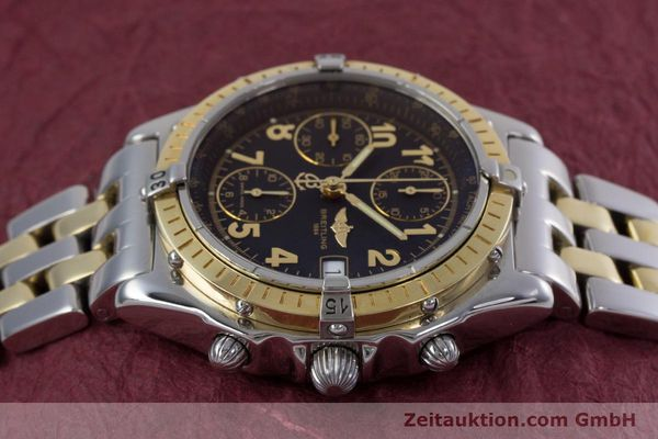 Used luxury watch Breitling Chronomat chronograph steel / gold automatic Kal. B13 ETA 7750 Ref. D13050.1  | 153074 05