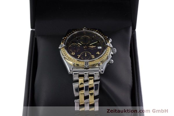 Used luxury watch Breitling Chronomat chronograph steel / gold automatic Kal. B13 ETA 7750 Ref. D13050.1  | 153074 07