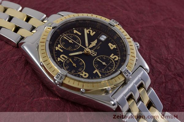 Used luxury watch Breitling Chronomat chronograph steel / gold automatic Kal. B13 ETA 7750 Ref. D13050.1  | 153074 15