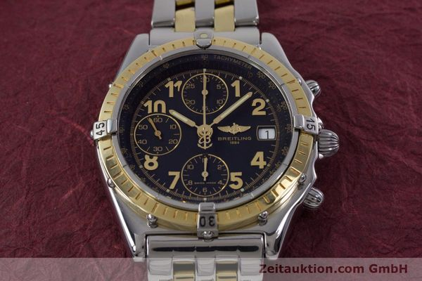 Used luxury watch Breitling Chronomat chronograph steel / gold automatic Kal. B13 ETA 7750 Ref. D13050.1  | 153074 16