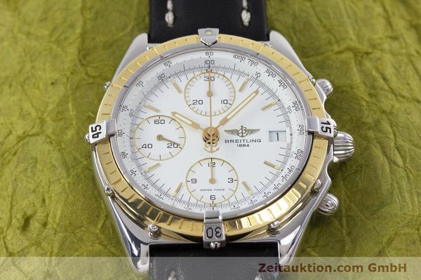 Used luxury watch Breitling Chronomat chronograph steel / gold automatic Kal. B13 ETA 7750 Ref. D13047  | 153075 15