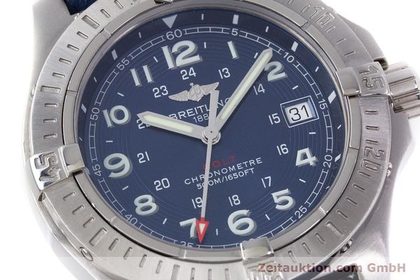 Used luxury watch Breitling Colt steel quartz Kal. B74 ETA 955652 Ref. A74380  | 153077 02