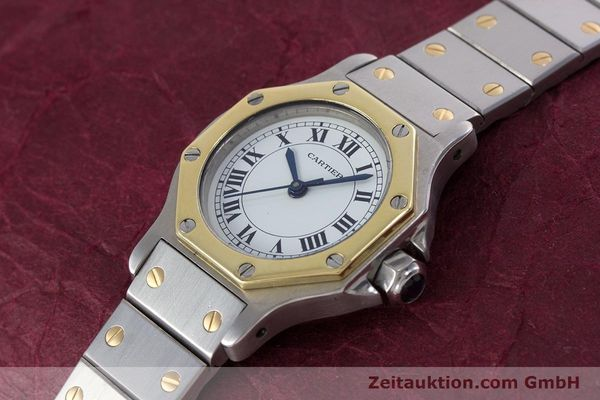 Used luxury watch Cartier Santos steel / gold automatic Kal. ETA 2670  | 153095 01
