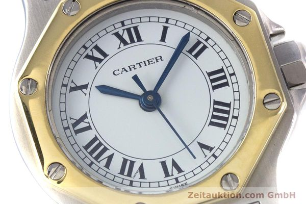 Used luxury watch Cartier Santos steel / gold automatic Kal. ETA 2670  | 153095 02