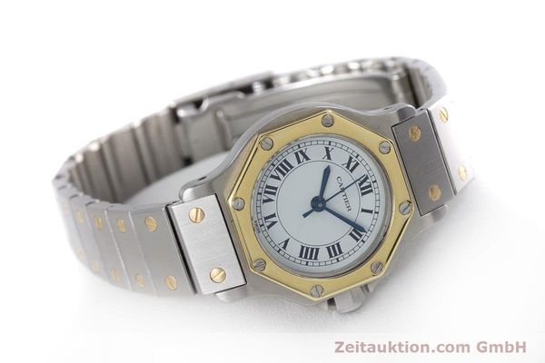 Used luxury watch Cartier Santos steel / gold automatic Kal. ETA 2670  | 153095 03
