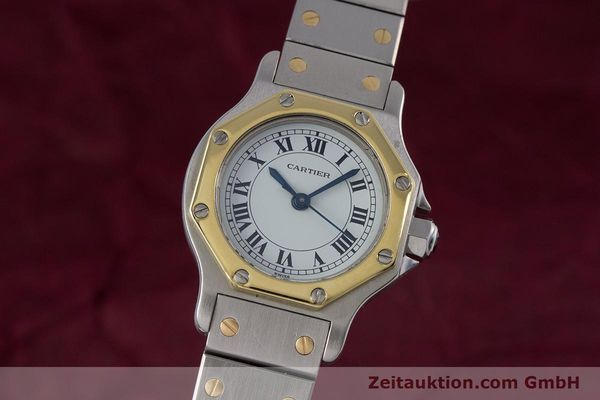 Used luxury watch Cartier Santos steel / gold automatic Kal. ETA 2670  | 153095 04