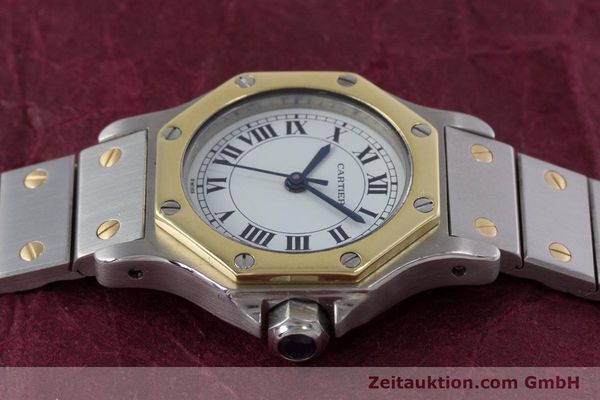 Used luxury watch Cartier Santos steel / gold automatic Kal. ETA 2670  | 153095 05