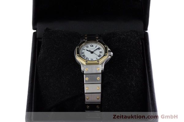 Used luxury watch Cartier Santos steel / gold automatic Kal. ETA 2670  | 153095 07