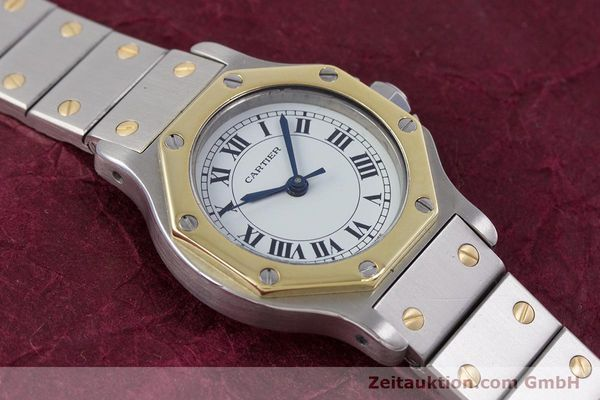 Used luxury watch Cartier Santos steel / gold automatic Kal. ETA 2670  | 153095 12