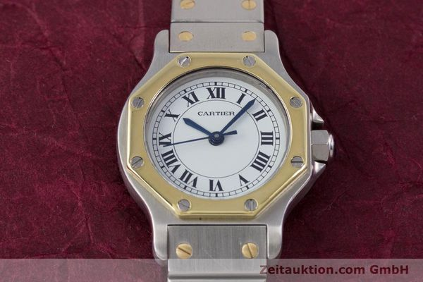 Used luxury watch Cartier Santos steel / gold automatic Kal. ETA 2670  | 153095 13