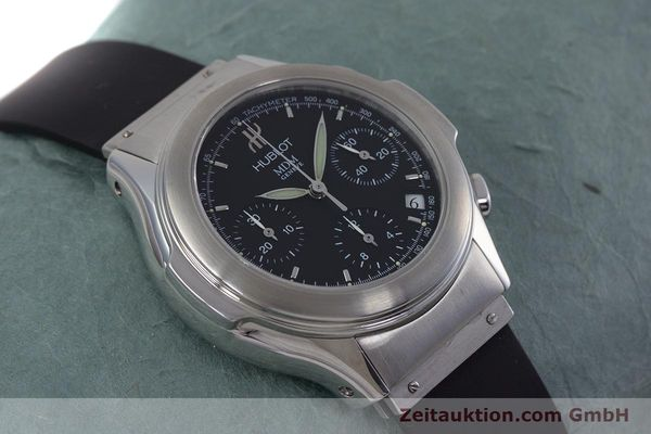 Used luxury watch Hublot MDM chronograph steel automatic Kal. ETA 2892A2 Ref. 1810.1  | 153109 14