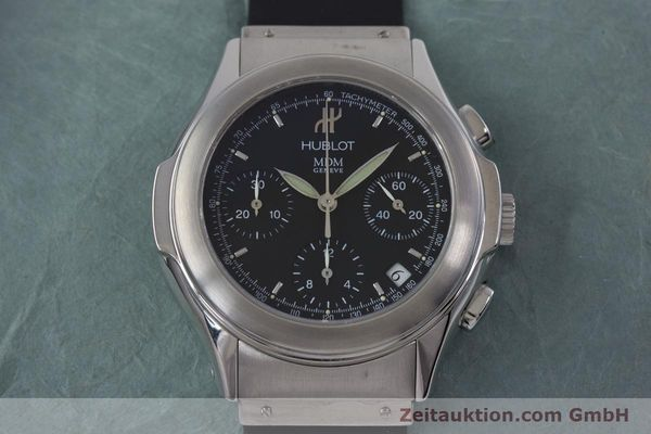 Used luxury watch Hublot MDM chronograph steel automatic Kal. ETA 2892A2 Ref. 1810.1  | 153109 15