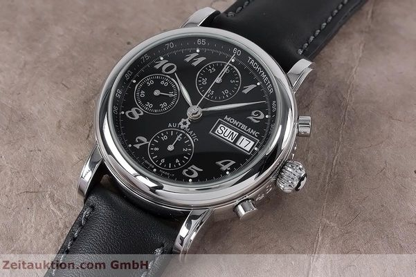 Used luxury watch Montblanc Meisterstück chronograph steel automatic Kal. 4810501 ETA 7750 Ref. 7016  | 153117 01